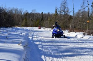 Clam Lake WI Snowmobile Trails