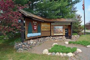 Elk Information Kiosk in the Clam Lake Community Park
