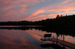 Clam Lake sunset